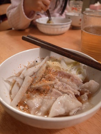 豚バラゴボウ鍋ひとりb