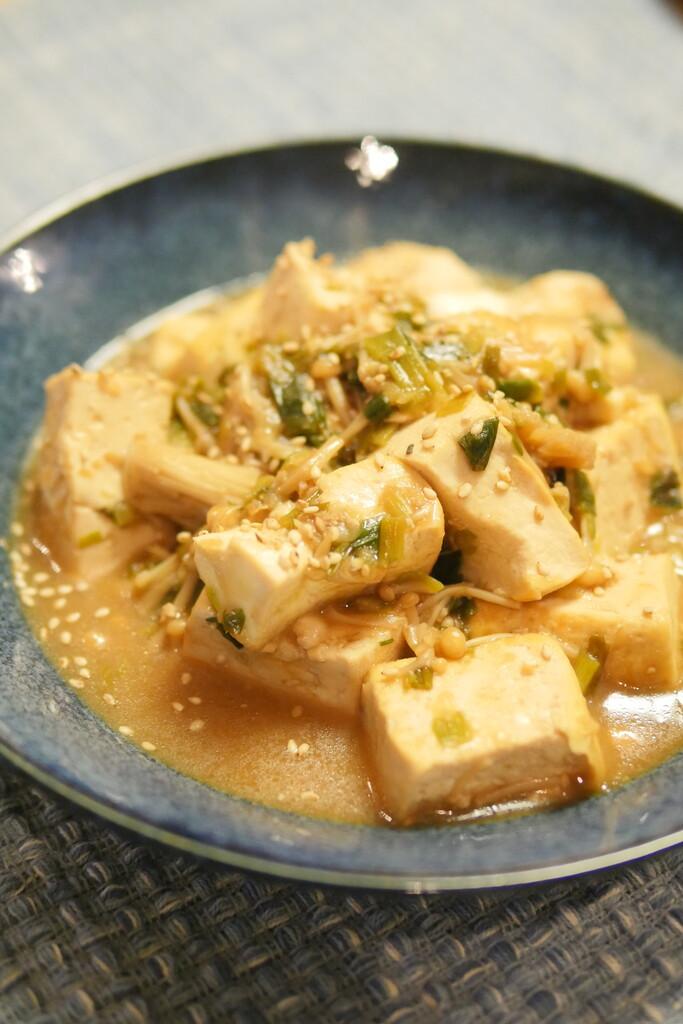 木綿豆腐のめんつゆ煮炒め