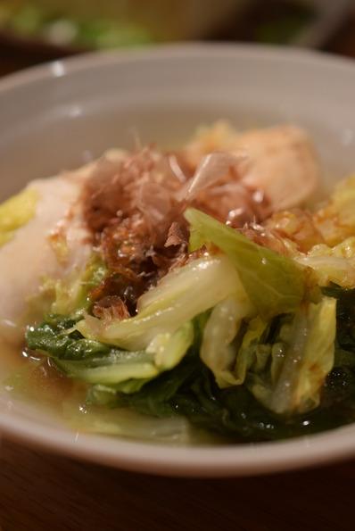 鶏と白菜の重ねに的な料理
