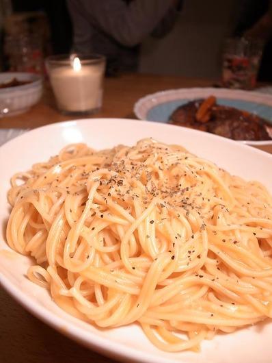 ビストロママサーモンのクリーム煮でつくるパスタb