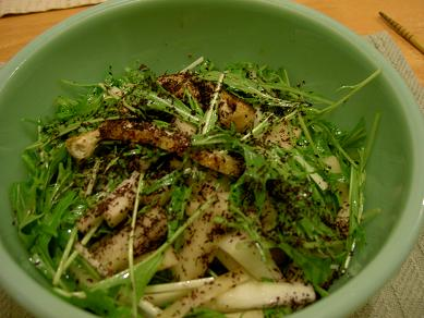 大根水菜しゃきしゃきサラダ