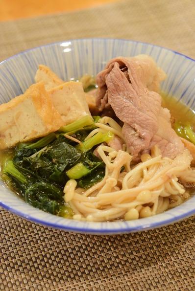 小松菜と豚の煮物