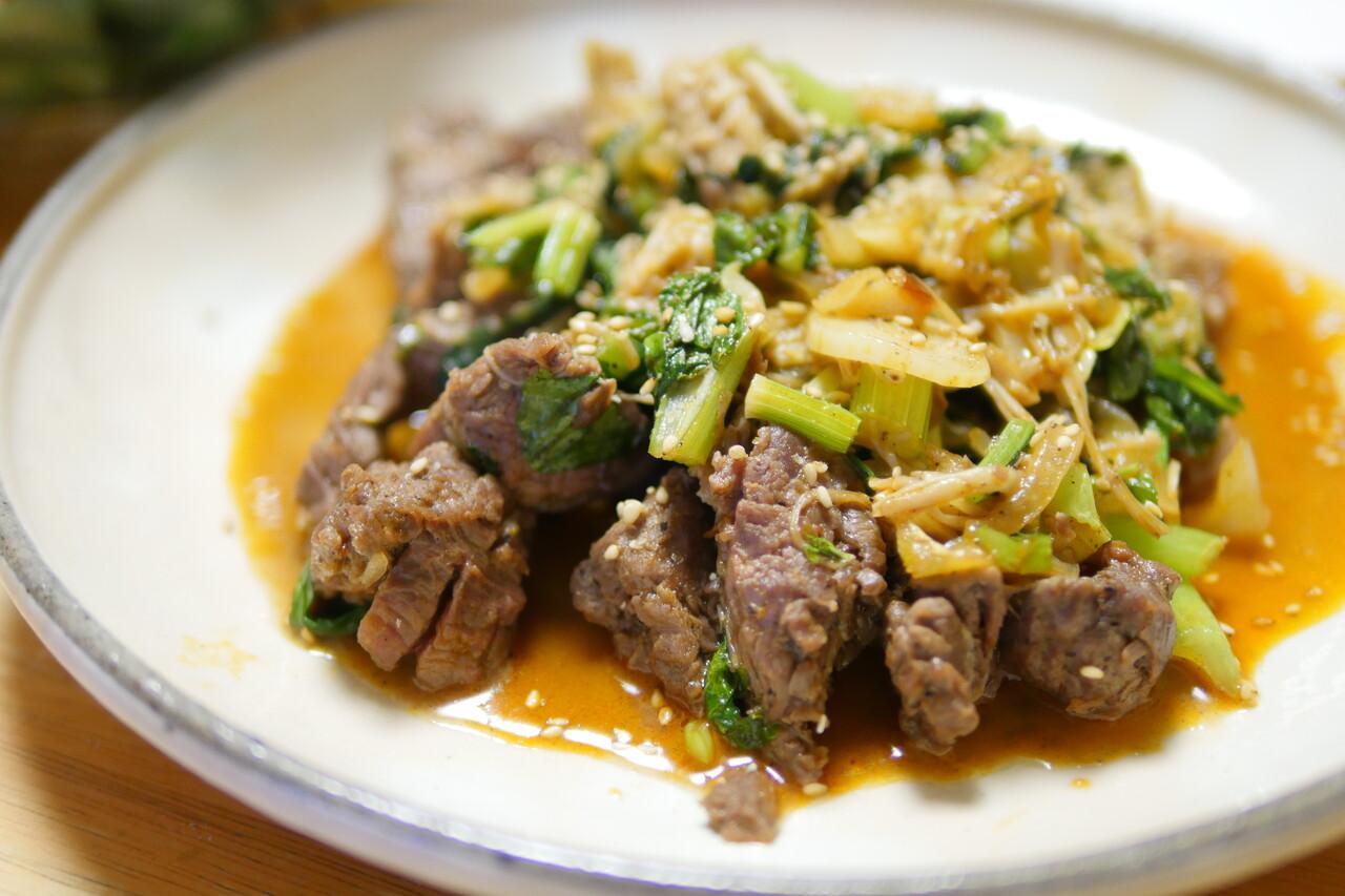 香味野菜牛肉炒め