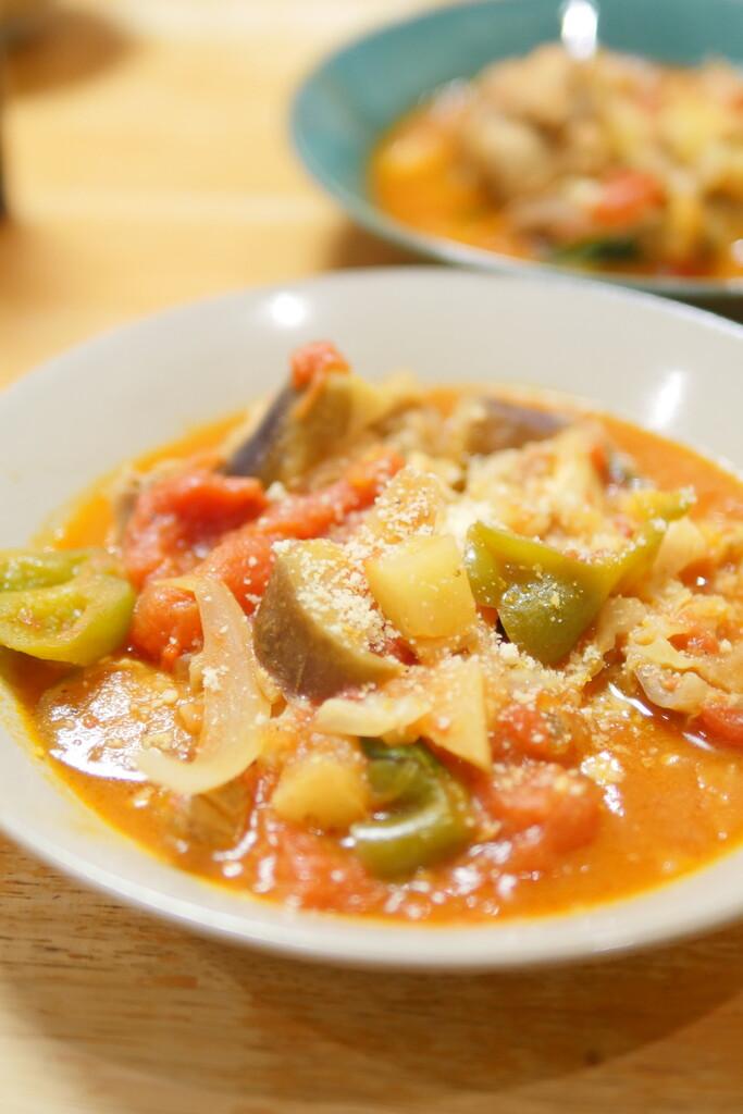 トマト煮手羽元砂肝