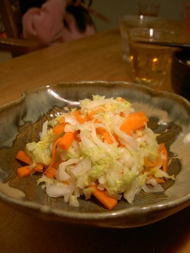 白菜とニンジンの塩漬けb