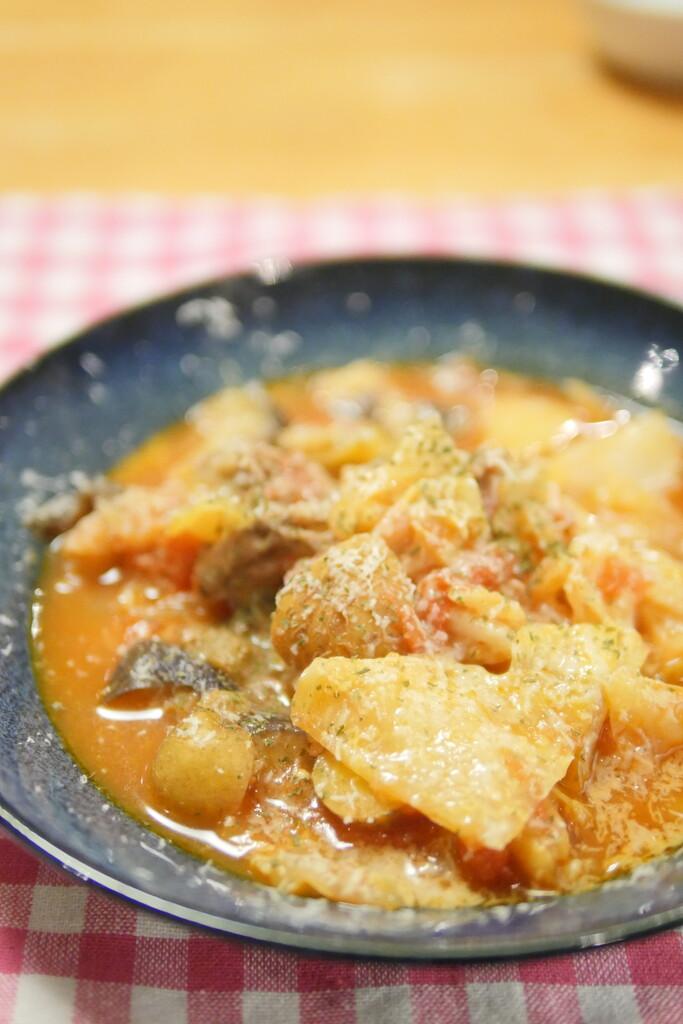 豚キャベツのトマト煮