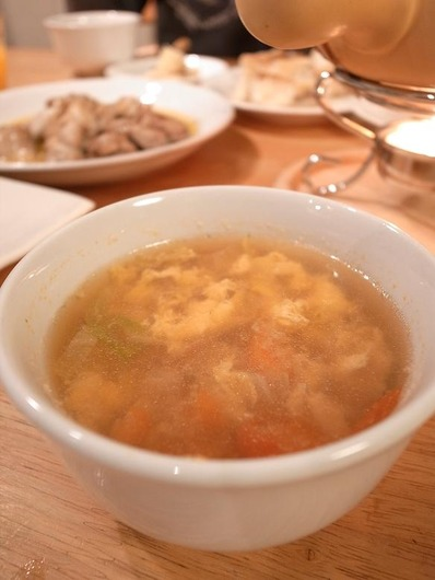 鶏出汁卵スープb