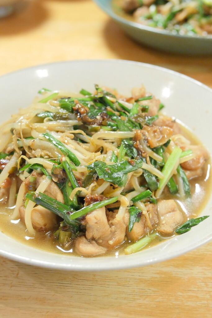 鶏ニラ炒め3