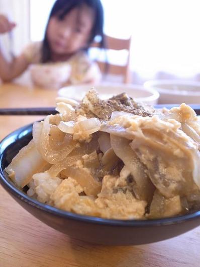 白菜しめじ玉子丼b
