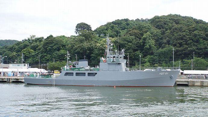 海自水中処分母船「YDT01」を特別公開、陸自出雲駐の装備品展示も…島根地方協力本部!