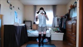 【踊ってみた】JKの水色パンツが見えた!