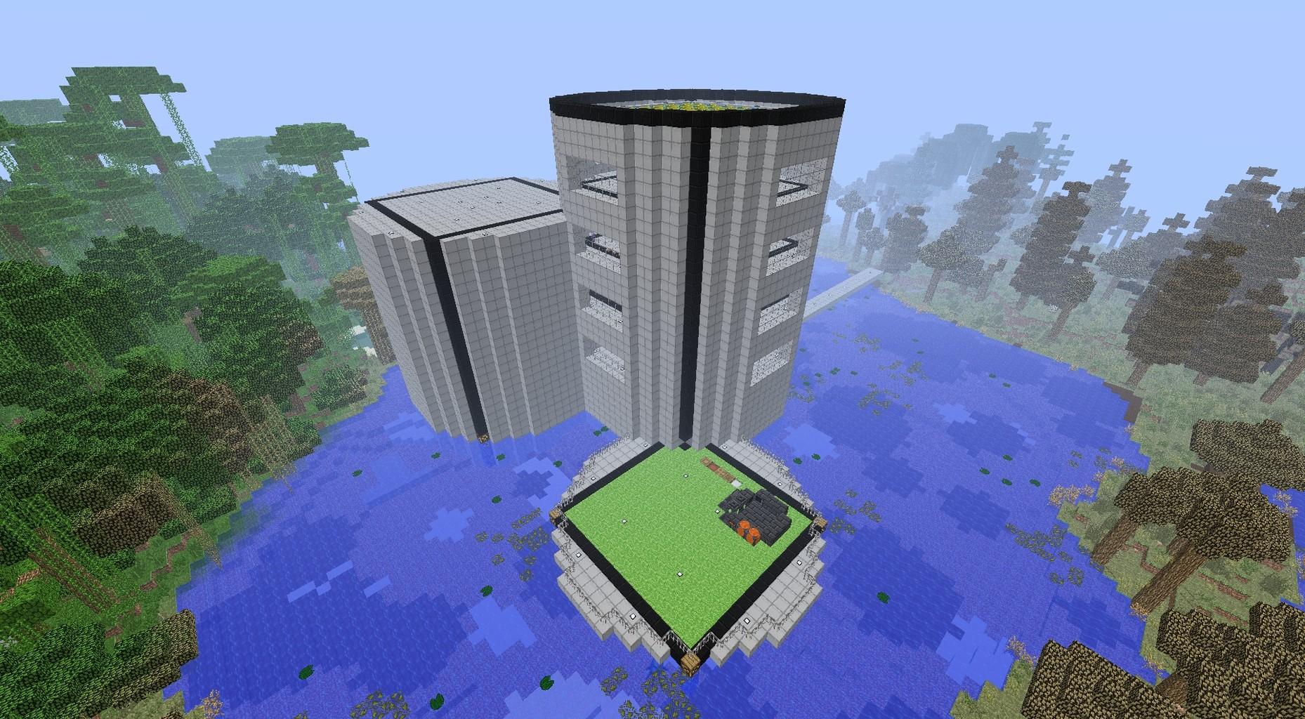 スティーブの工業化MOD日記~Minecraft~ : 【マインクラフト】メイン拠点まわりとAE電力事情【工業化MOD】