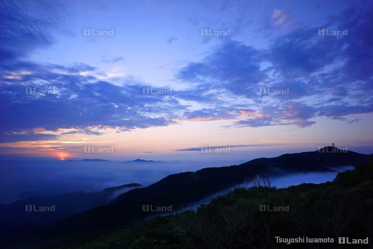 高知山から見た雲海