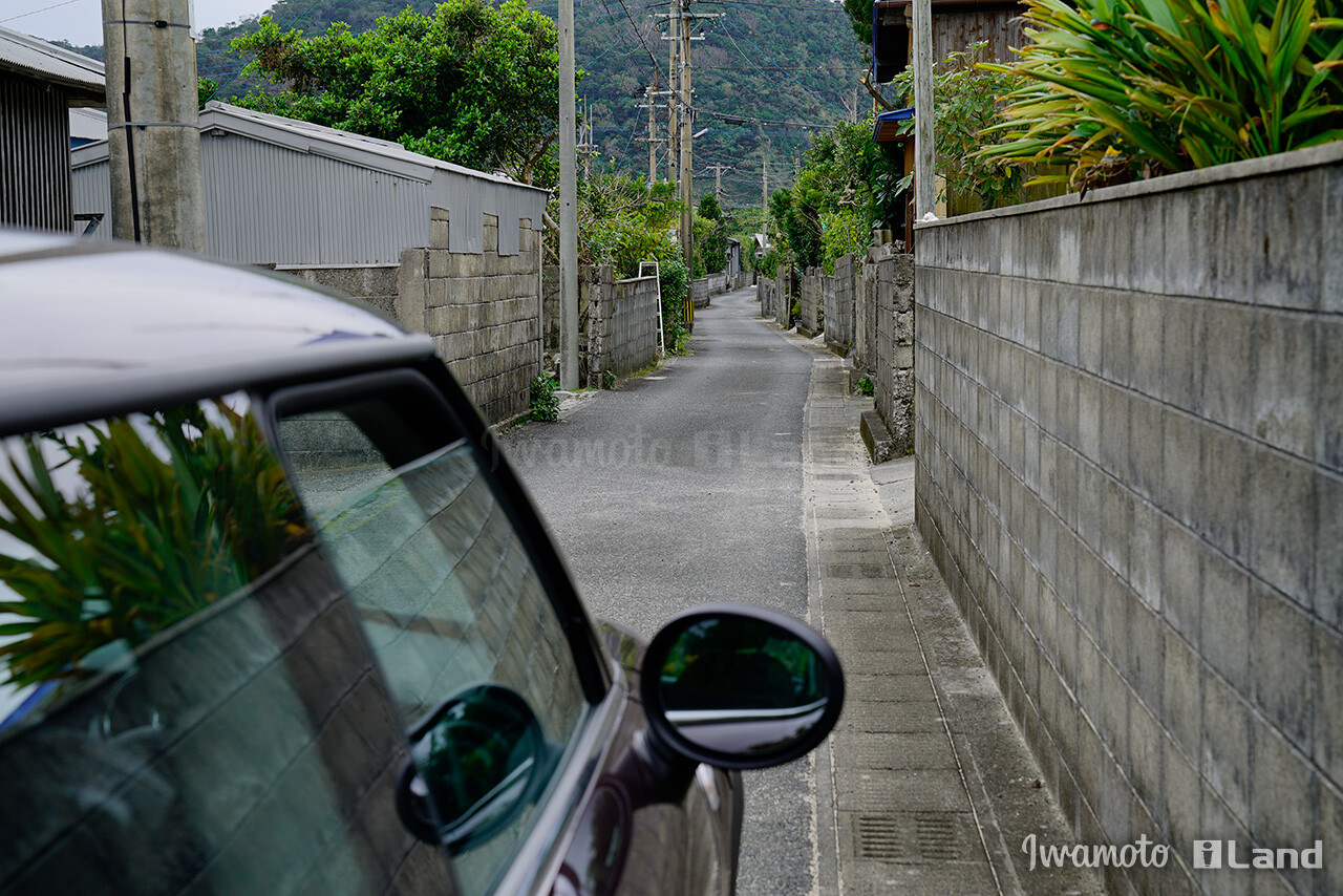 佐仁集落の細道