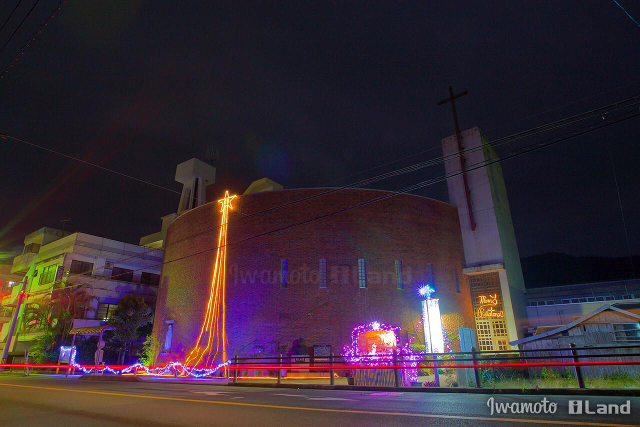 古田町マリア教会クリスマスイルミネーション