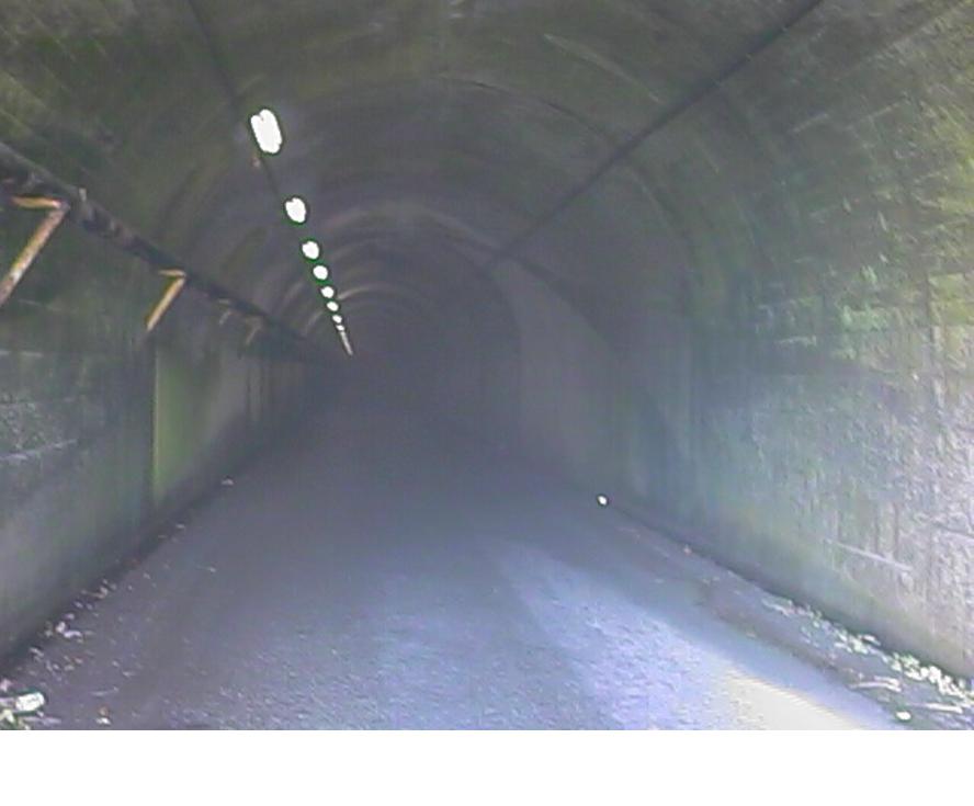 奥米台隧道・内部の様子(1997年9月11日撮影)