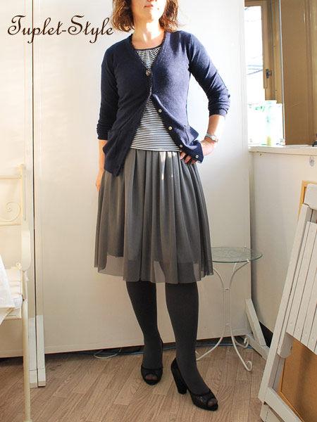 今日はタプレ限定モデルのチュールスカート+カシミアのコーディネートをご紹介です。