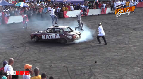 Katra drives from passenger side of his V8 E30