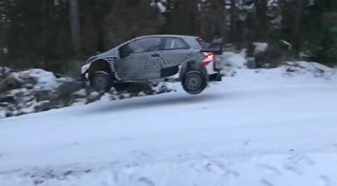 Yaris WRC swedish test