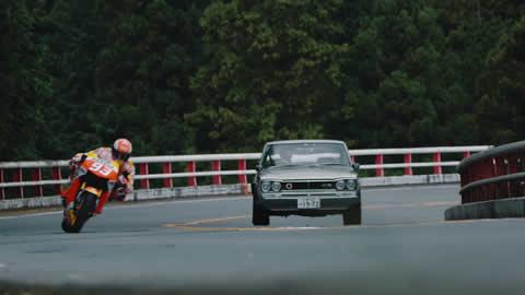 Marc Márquez se luce en Hakone Turnpike