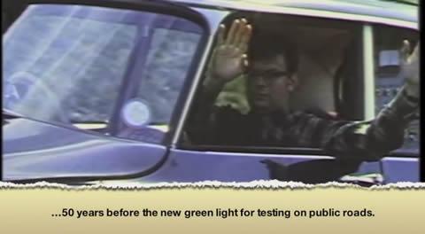1960s Citroën DS driverless car test