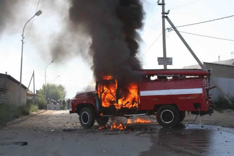 Fire engine burns