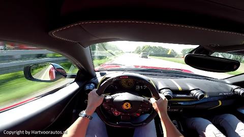 Ferrari 812 Superfast 320 kmh on Autobahn