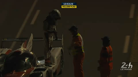 24 Heures du Mans La Toyota 7 contrainte