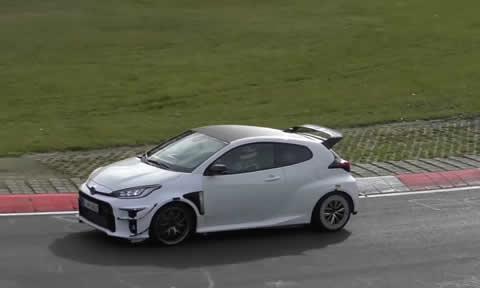 Hardcore 2021 Toyota GRMN Yaris Spied on Nurburgring