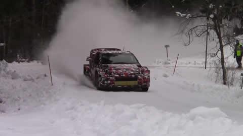 Toyota GR Yaris wrc winter test