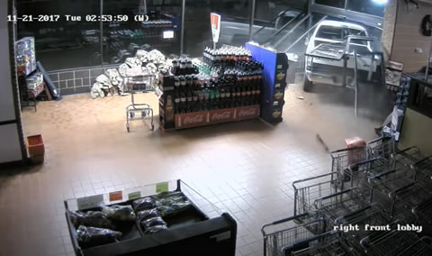 Thieves Smash Stolen Truck Through Store