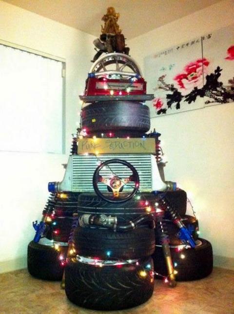car_christmas_tree