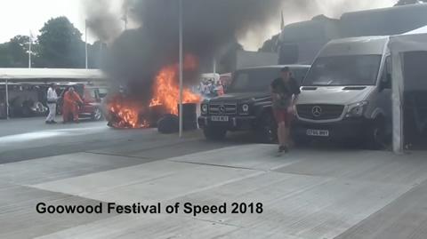 Lexus fire Goodwood Festival of Speed 2018