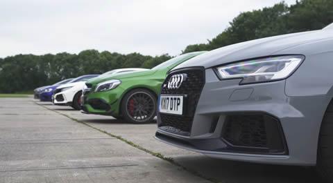 RS 3 v A45 AMG v Civic Type R v Golf R v Focus RS