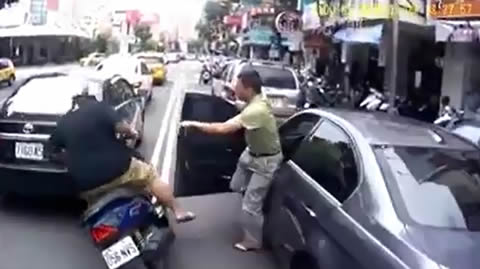 Taiwanese Driver Doors a Scooter