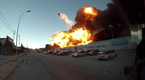 Big Explosion Sends Car Flying Hundreds Of Feet In The Air