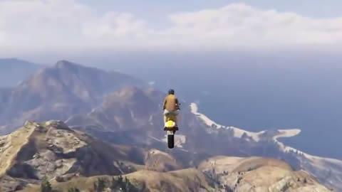 GTA 5 Flying Bike Landing In A Plane