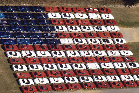 corvettes-at-carlisle-american-flag