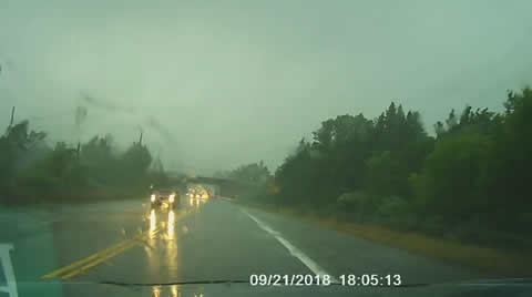 Car Gets Caught in Tornado's Path