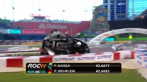 ROC 2017 Pascal Wehrlein Huge Crash Flip
