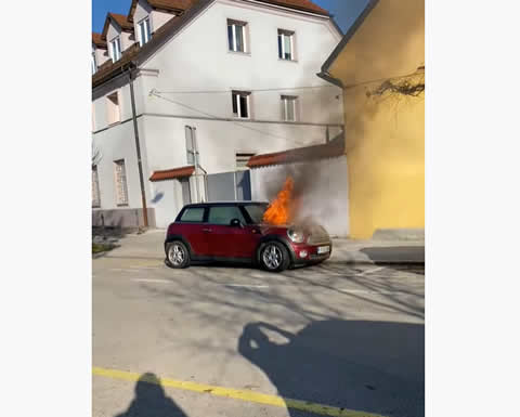 Car Fire Causes Engine to Start Itself