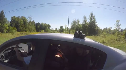 Expensive Camera Flies off Car Roof