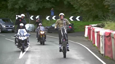 Dougie Lampkin Wheelies Entire Isle of Man TT Course