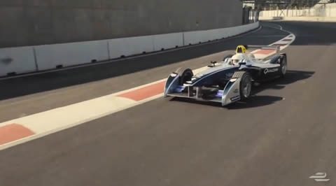 Drone vs Formula E Car - Senna vs Speed