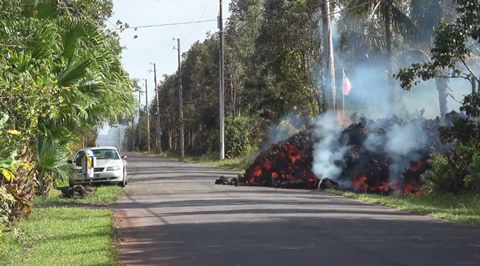 Lava Destroying Everything in Its Path