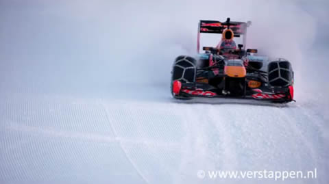 F1 Snow Demo Red Bull RB7 Hahnenkamm