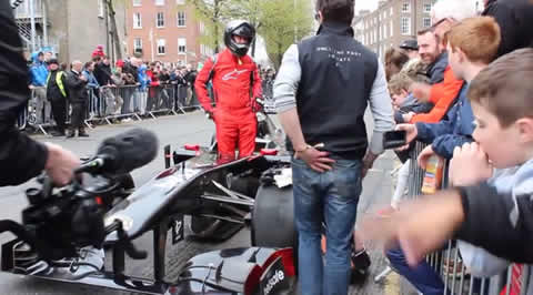 gumball 3000 F1 car breaks down epic