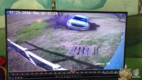 Truck Crashes Through Home Leaving a Big Hole