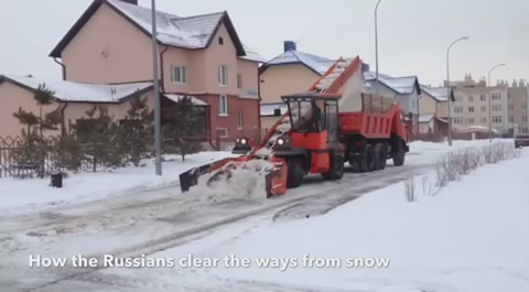 How The Russians Clear The Ways From Snow