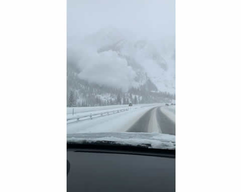 Avalanche Swallows Colorado Highway